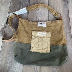 Eco-stitch hand made cross body messenger bag